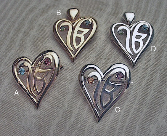Ekongkar pins and pendants with gemstones