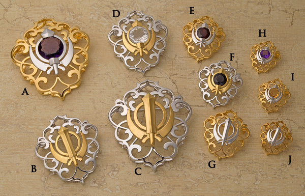 Filigree Adi Shakti Shields with and without gemstones