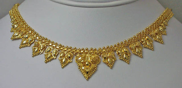 India gold plated silver necklace11