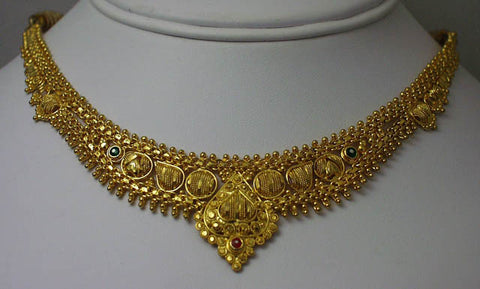 India gold plated silver necklace10