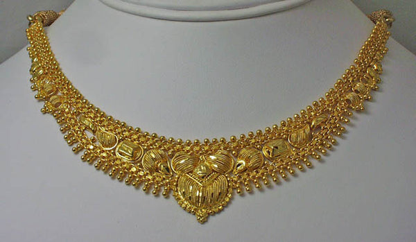 India gold plated silver necklace12