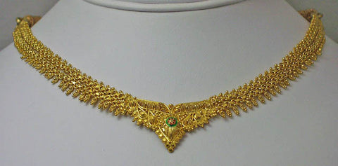 India gold plated silver necklace9