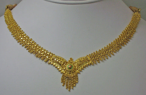 India gold plated silver necklace2