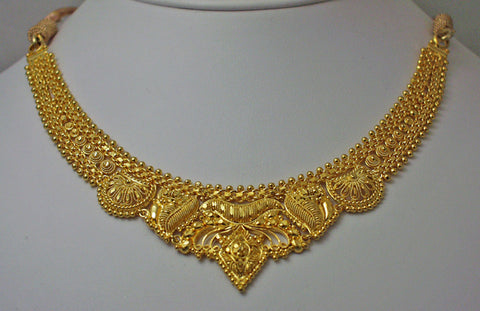 India gold plated silver necklace4