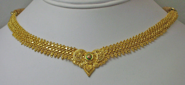 India gold plated silver necklace3
