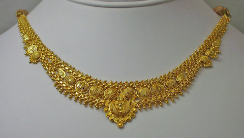 India gold plated silver necklace5