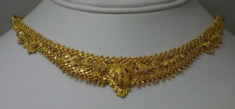 India gold plated silver necklace7