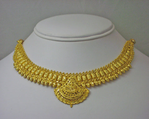 India gold plated silver necklace6