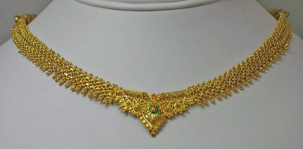 India gold plated silver necklace8
