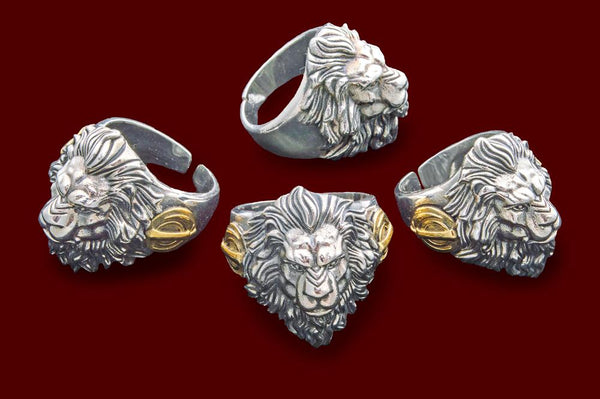 Noble lion silver rings