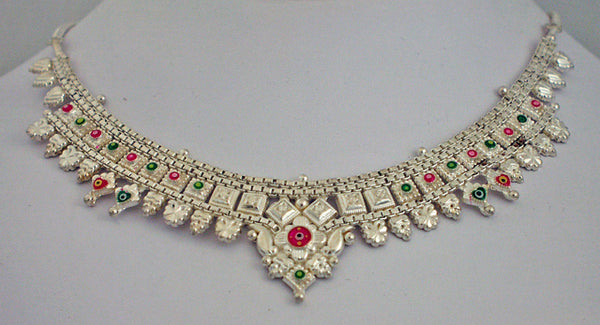 India silver necklace2