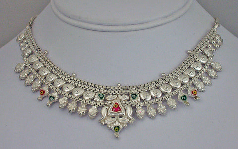 India silver necklace3