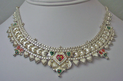 India silver necklace4