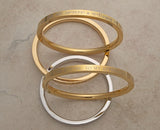 Medium weight solid stainless steel Karas - some with gold tone