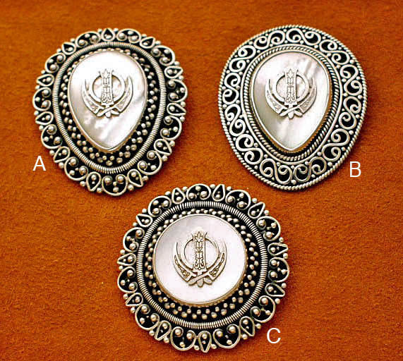 Mother of pearl adi shakti brooches