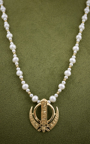 Simple, elegant pearl  Adi Shakti Power Necklace