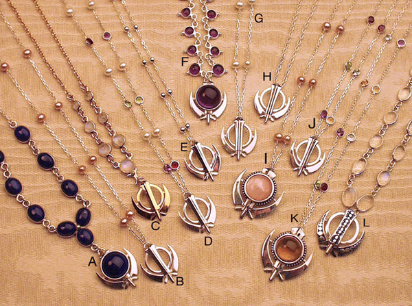 Simple, elegant, affordable adi shakti necklaces