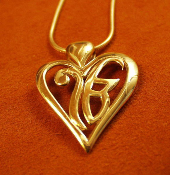 Simple heart ekongkar pendant and necklaces
