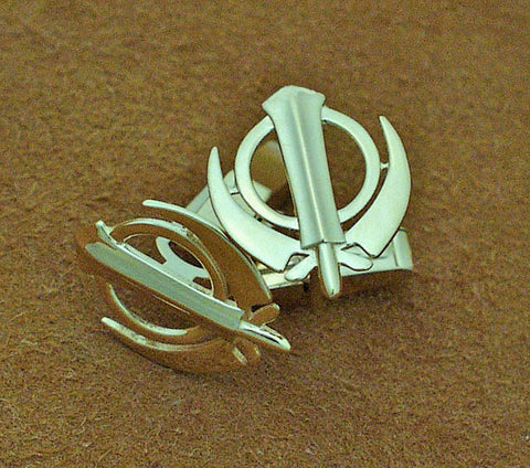 Simple adi shakti cufflinks