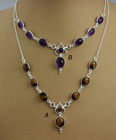 Simple elegant gemstone necklaces3