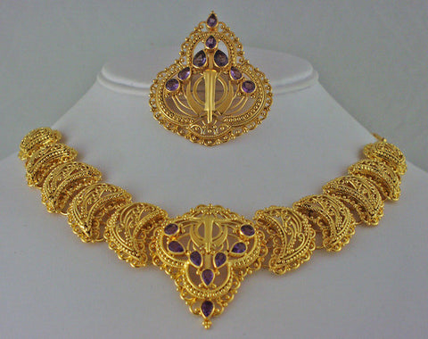 """Kalghi"" gemstone adi shakti ensemble"