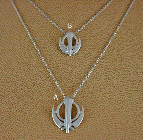 Simple smaller adi shakti pendants on chains