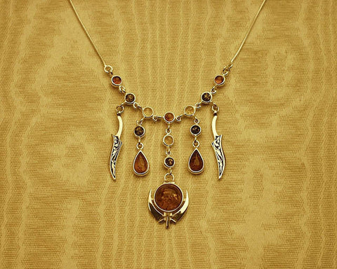Amber adi shakti necklace