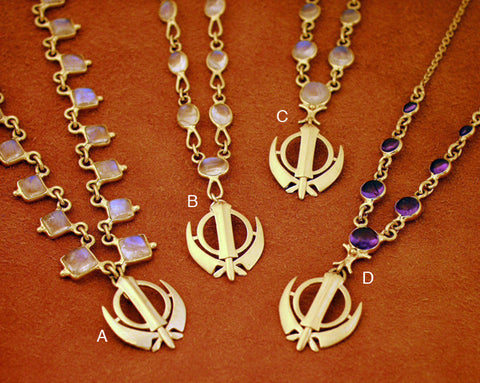 Simple, elegant, affordable adi shakti necklaces4