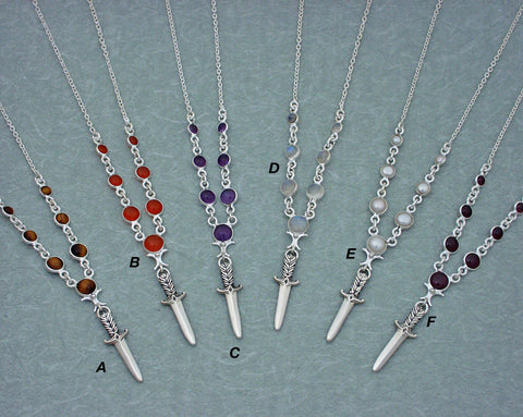 Simple elegant LifeKnives necklaces