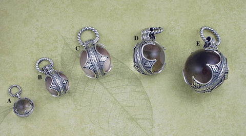 Silver crystal Viking style pendants