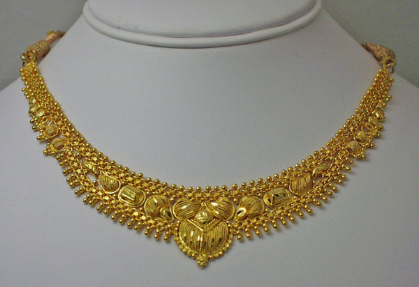 India gold plated silver necklace1