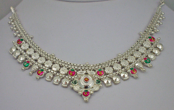 India silver necklace1