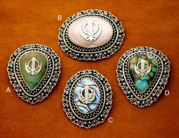 Large adi shakti brooches