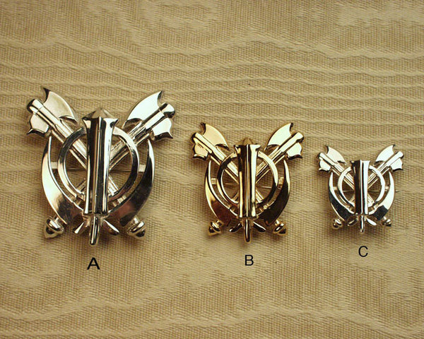 Double axe adi shakti pin pendant