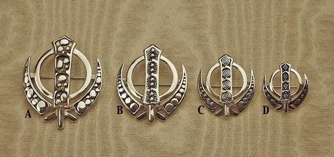 Simple and elegant Adi Shakti pin pendants