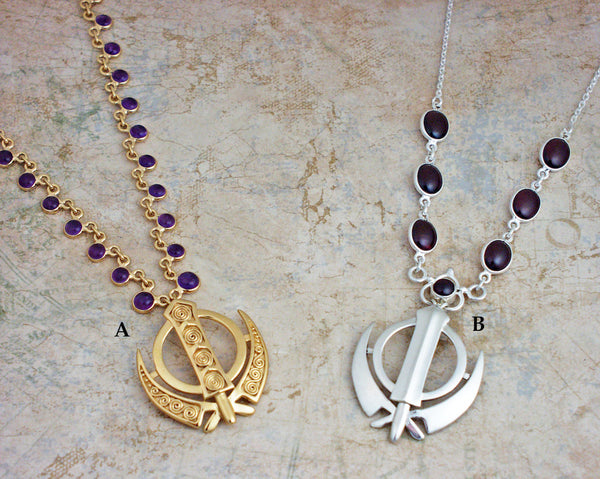 Medium large Adi Shakti gemstone necklaces