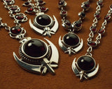 Garnet adi shakti necklaces
