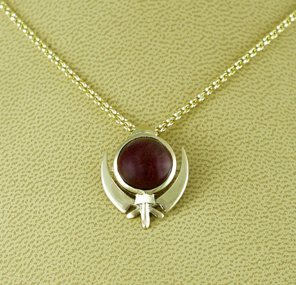 Ruby gold pendant and chain