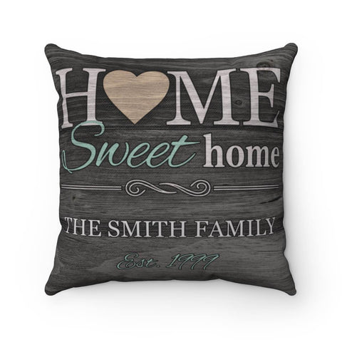 Home Sweet Home Pillow - Personalized