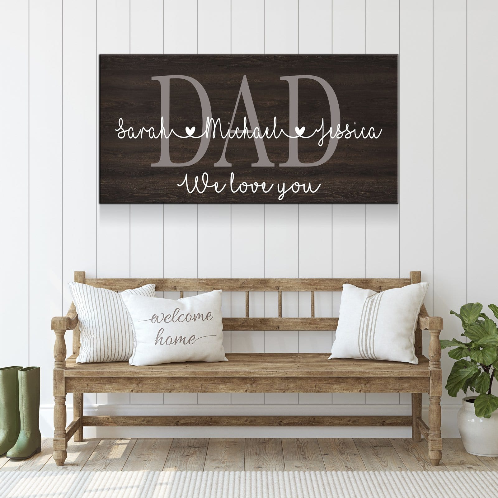 Dad We Love You - Personalized