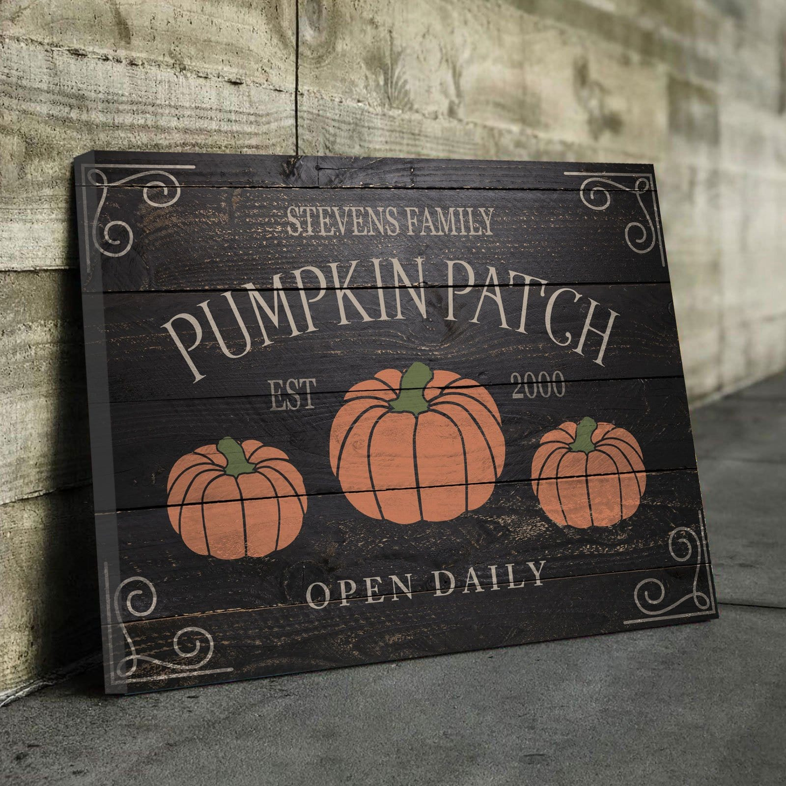 Family Pumpkin Patch Dark - Personalized