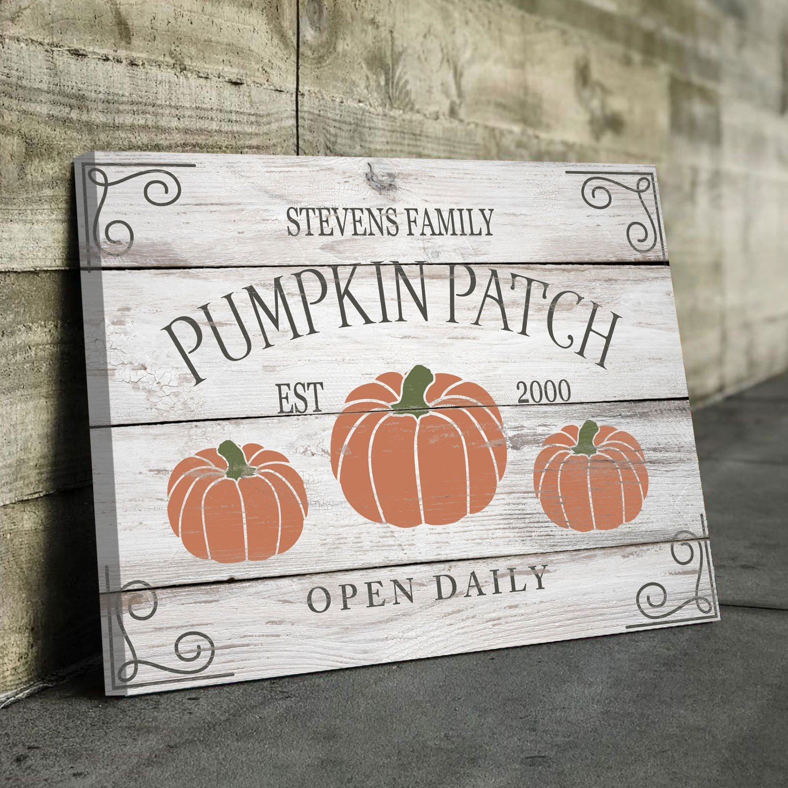Family Pumpkin Patch - Personalized