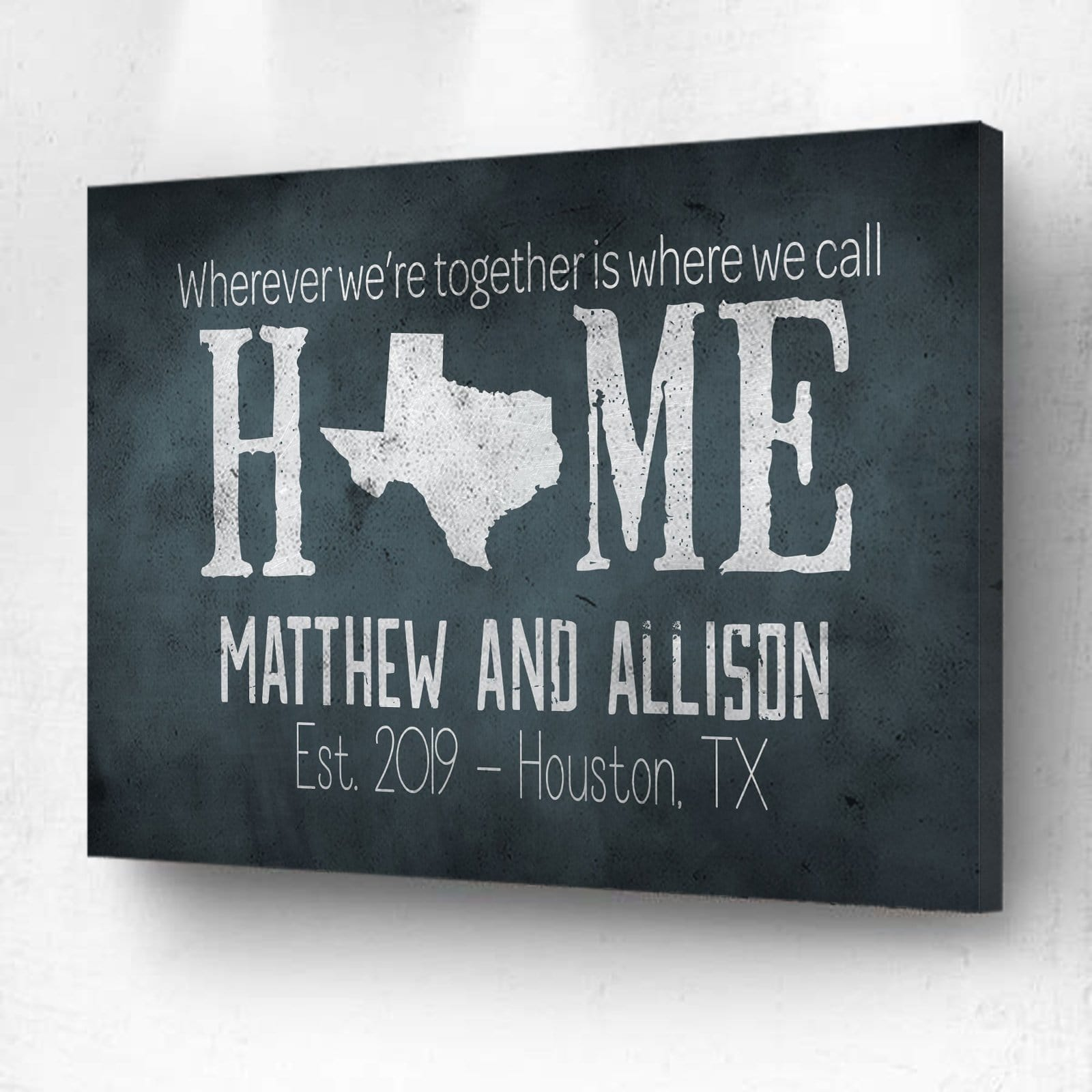 Wherever We're Together Is Where We Call Home Teal - Personalized
