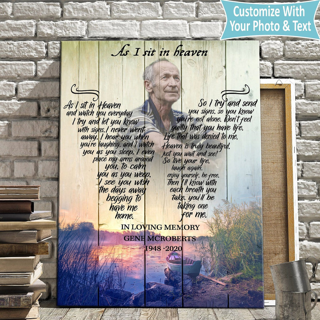 As I Sit In Heaven Memorial Sunset - Personalized