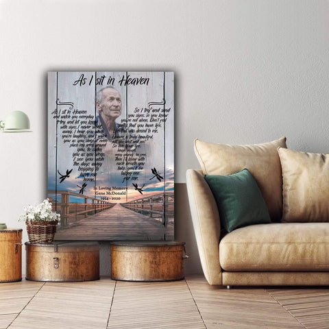 As I Sit In Heaven - Outerbanks - Personalized Canvas - Digital Copy