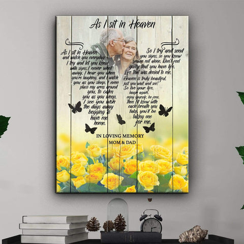 As I Sit In Heaven Yellow Roses - Digital Copy