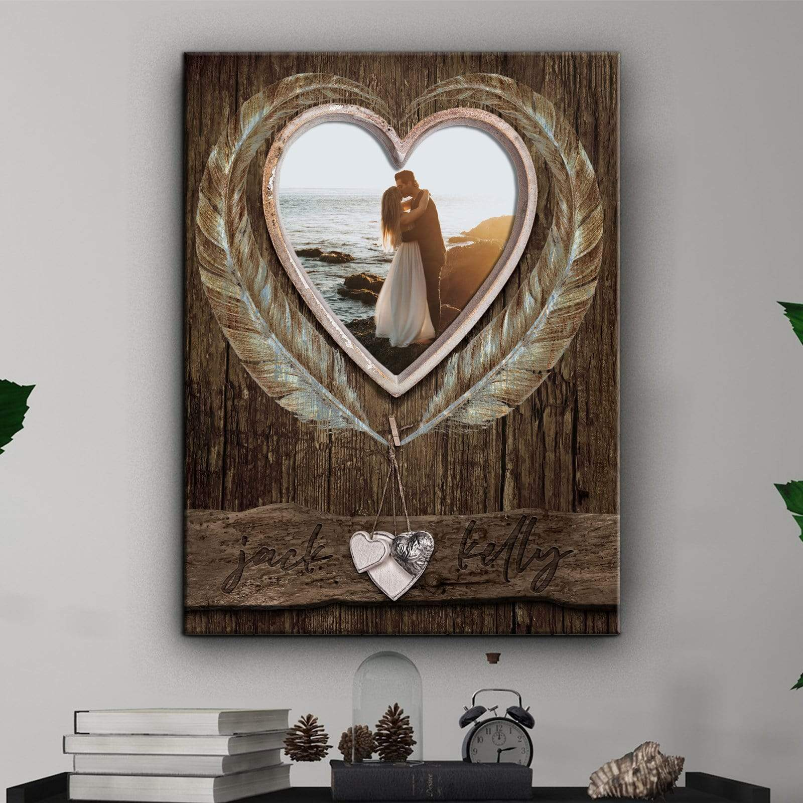 Wooden Heart Window - Personalized