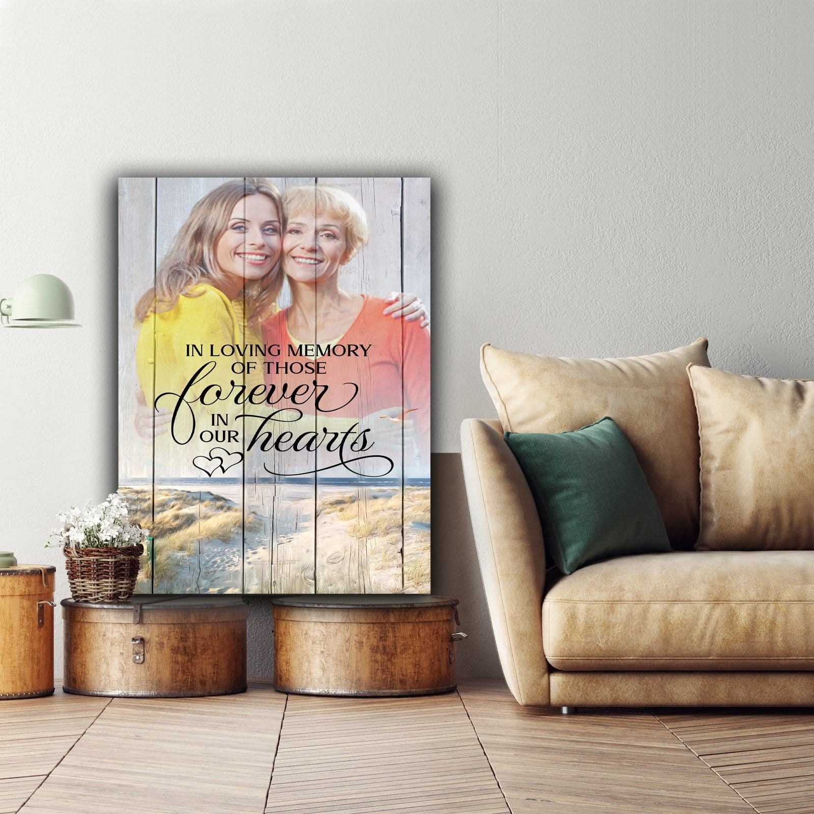 In Loving Memory Of Those Forever - Personalized Canvas