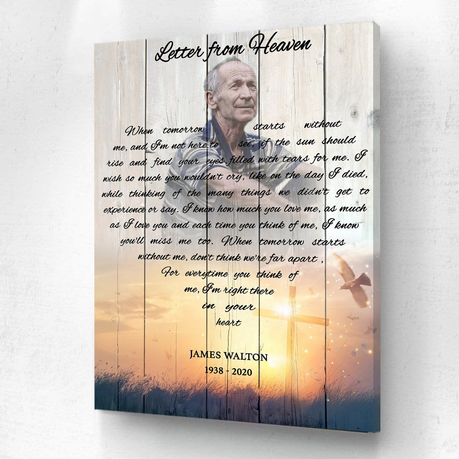 A Letter From Heaven - Cross - Personalized