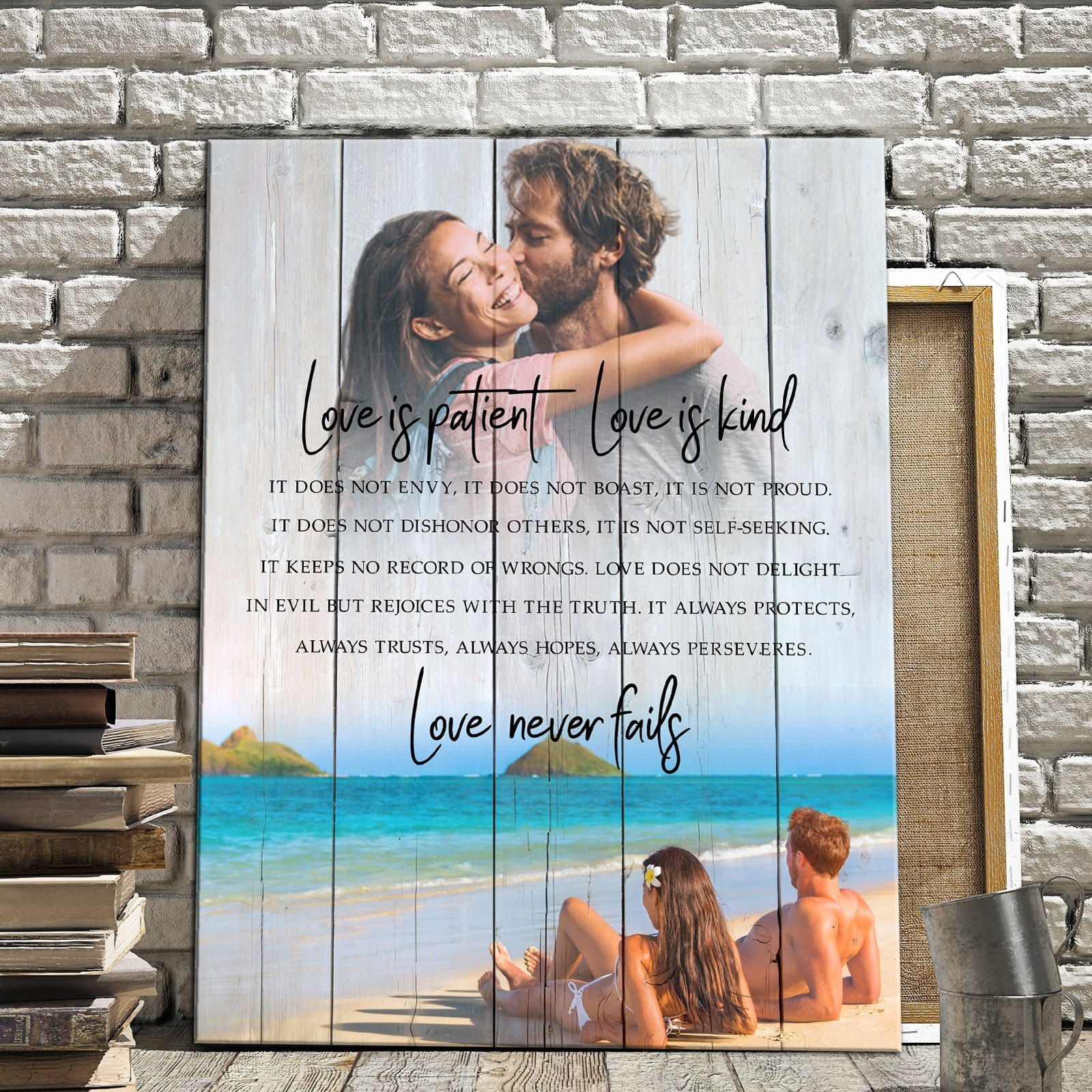 Love Is Patient, Love Is Kind - Beach - Personalized